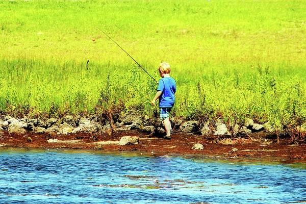 Photograph - Young Fisherman by Cynthia Guinn
