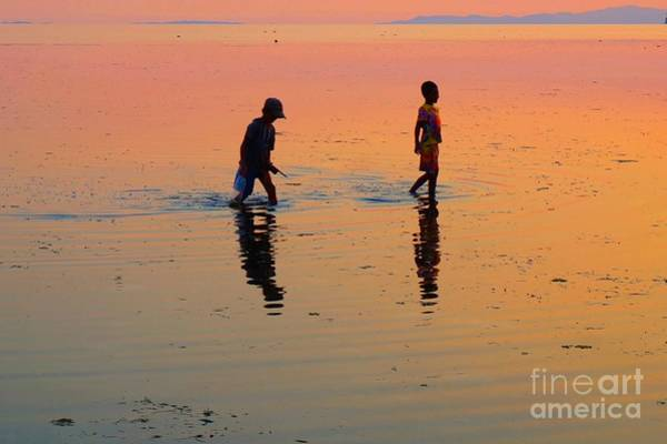 Photograph - Young Fishermen On Water by Christopher Shellhammer