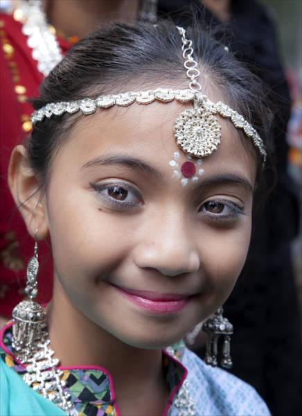 Pride Festival Photograph - Young Girl Deepavali Festival Nyc 2015 by Robert Ullmann
