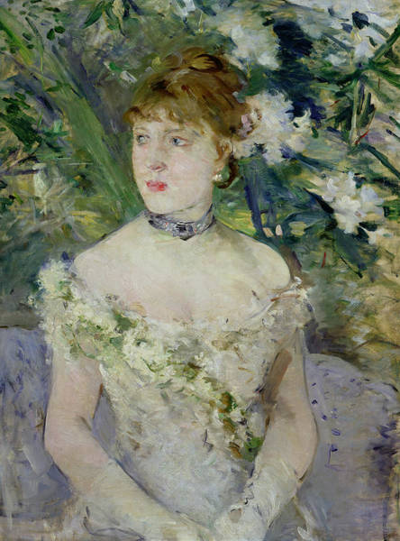 Gown Painting - Young Girl In A Ball Gown by Berthe Morisot