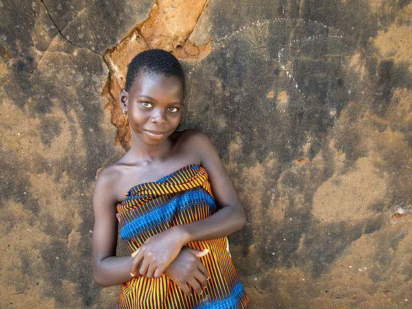 Earthy Wall Art - Photograph - Young Girl In A Togo Village  by David Smith