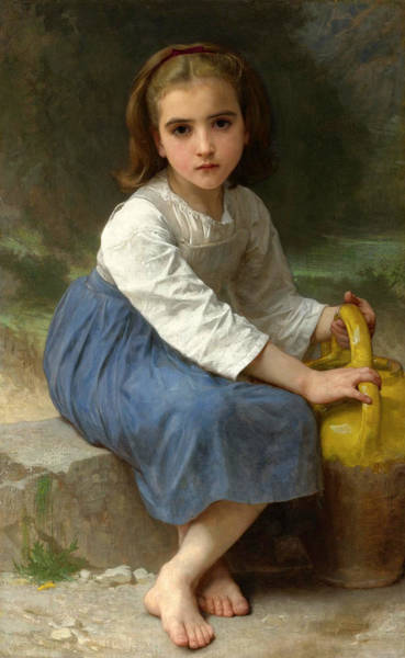 Wall Art - Painting - Young Girl With A Water Jug by William-Adolphe Bouguereau