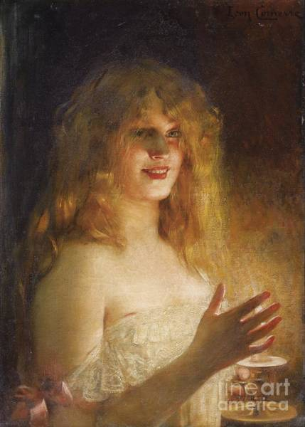 Painting - Young Girl With Candle by Celestial Images