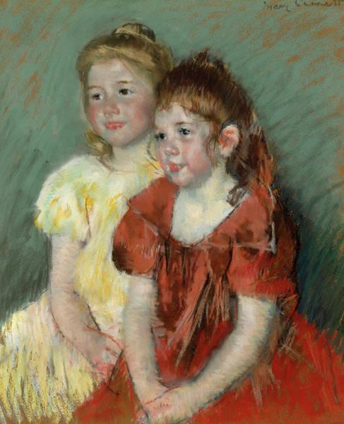 Cassatt Painting - Young Girls by Mary Cassatt