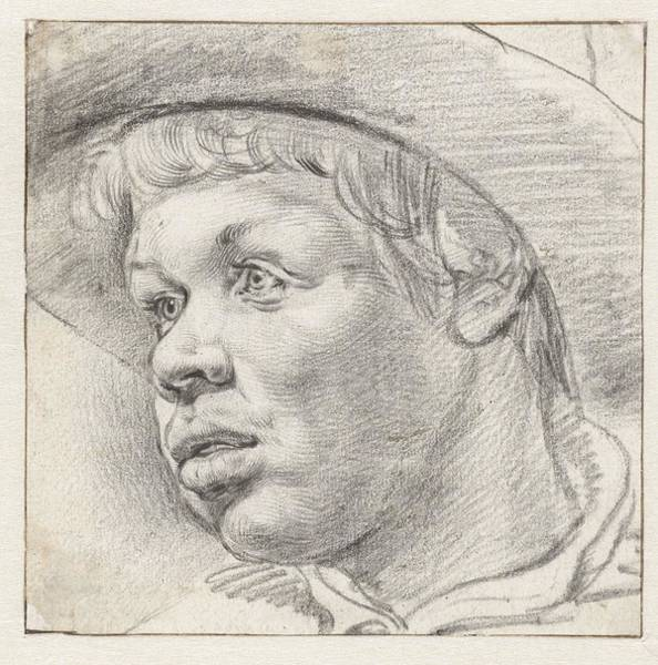 Painting - Young Head  Cornelis Visscher  II   1639  1658 by Artistic Panda