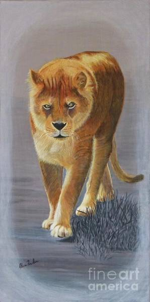 Painting - Young Male Lion by Alicia Fowler