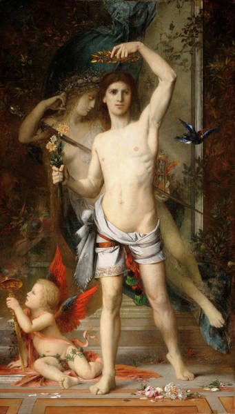 Wall Art - Painting - Young Man And Death by Gustave Moreau