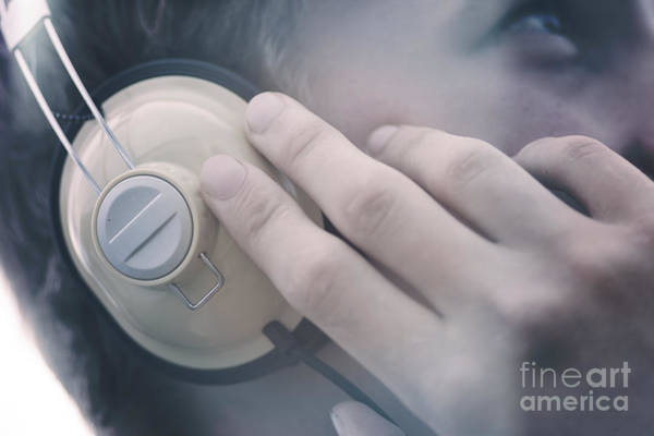 Wall Art - Photograph - Young Man Listening To Music Headphones by Jorgo Photography - Wall Art Gallery