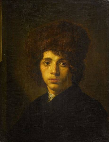 Painting - Young Man With A Fur Hat, David Bailly  C  1635   C  1640 by Artistic Panda