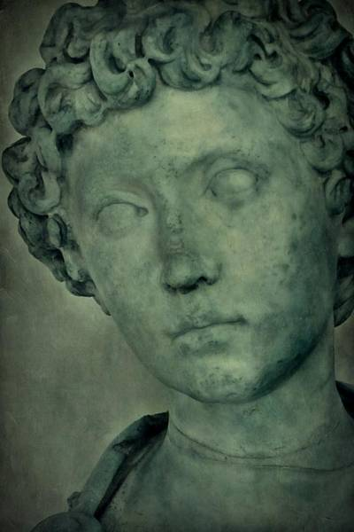 Photograph - Young Marcus Aurelius Closeup by Patricia Strand