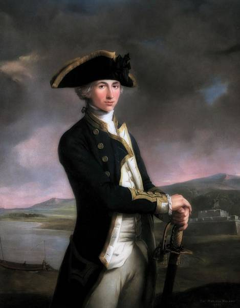 Wall Art - Painting - Young Nelson by John Rigaud