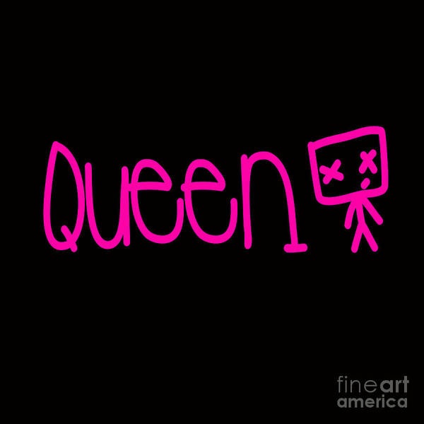 Wall Art - Digital Art - Young Queen by Respect the Queen
