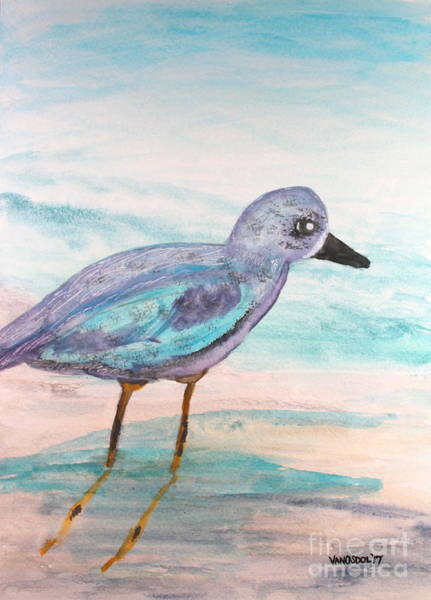 Gulf Shores Alabama Painting - Young Seagull On Beach - Watercolor Painting by Scott D Van Osdol