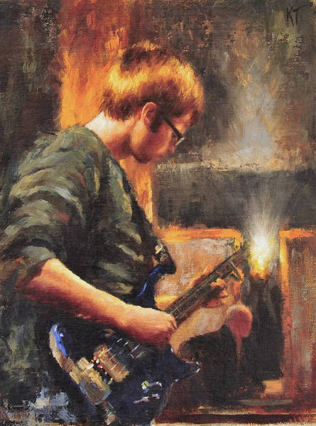 Bass Guitar Painting - Young Soul by Katherine Tucker