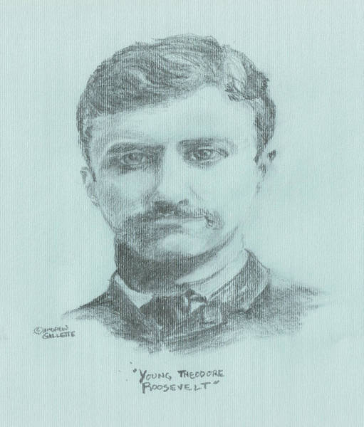 Drawing - Young Theodore Roosevelt by Andrew Gillette