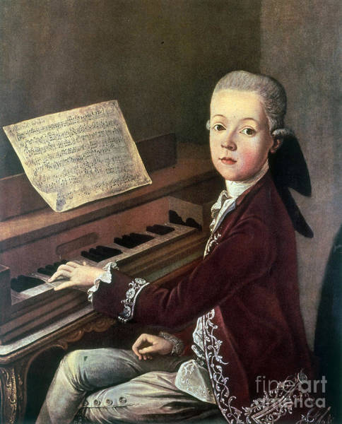 Mozart Photograph - Young Wolfgang Amadeus Mozart by Science Source