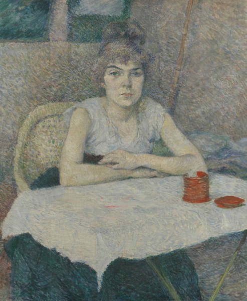 Painting - Young Woman At A Table by Henri de Toulouse-Lautrec