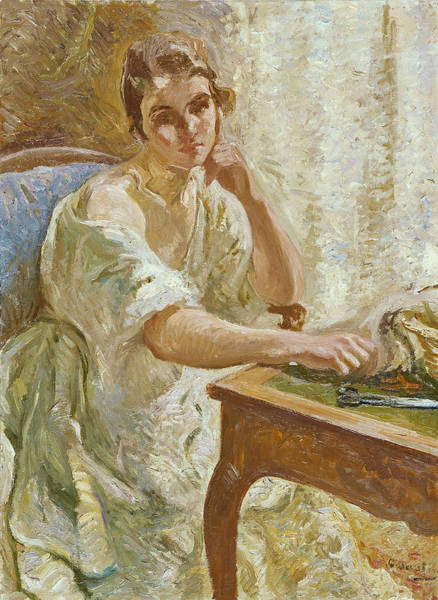 Painting - Young Woman At The Table by Otto Vautier