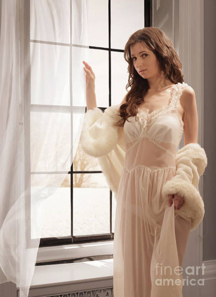 Wall Art - Photograph - Young Woman In Negligee by Amanda Elwell