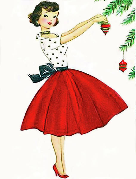 Wall Art - Digital Art - Young Woman Is Decorating A Christmas Tree by Long Shot