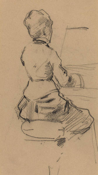 Young Drawing - Young Woman Seated At A Piano by Jean Louis Forain