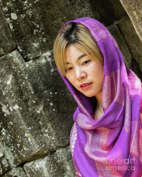 Photograph - Young Woman Silk Scarf 01 by Rick Piper Photography