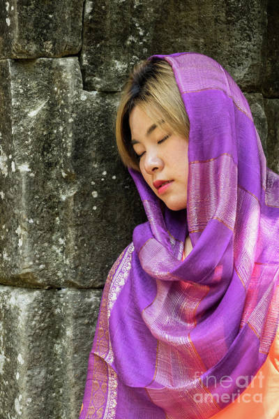 Photograph - Young Woman Silk Scarf 02 by Rick Piper Photography