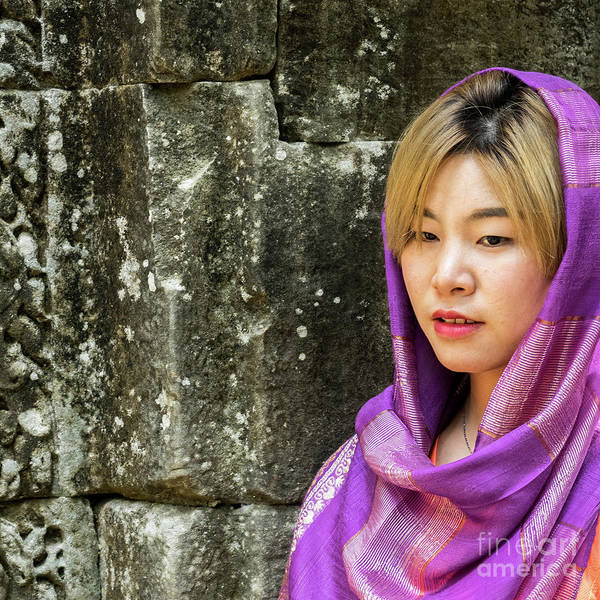 Photograph - Young Woman Silk Scarf 03 by Rick Piper Photography