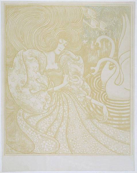 Painting - Young Woman With Butterfly, Jan Toorop, 1868 - 1928 by Artistic Panda