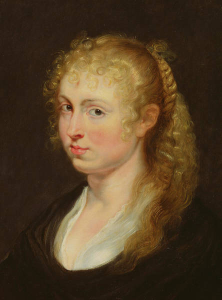 Wall Art - Painting - Young Woman With Curly Hair by Rubens