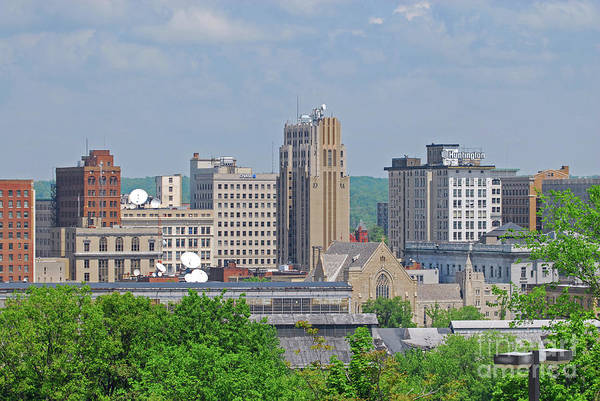 Photograph - D39u-1 Youngstown Ohio Skyline Photo by Ohio Stock Photography