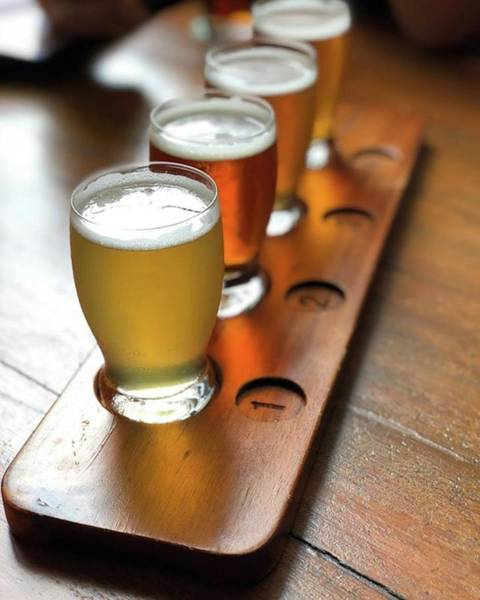 Your Choice Of Four Draft Beers From Art Print by Arya Swadharma