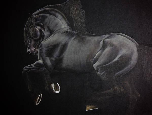 Horsemanship Painting - Your Dark Horse by Joy Walsh