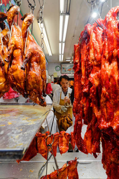 Duck Meat Photograph - Your Goose Is Cooked - Chinese Restaurant Kitchen In San Francisco Chinatown, California by Darin Volpe