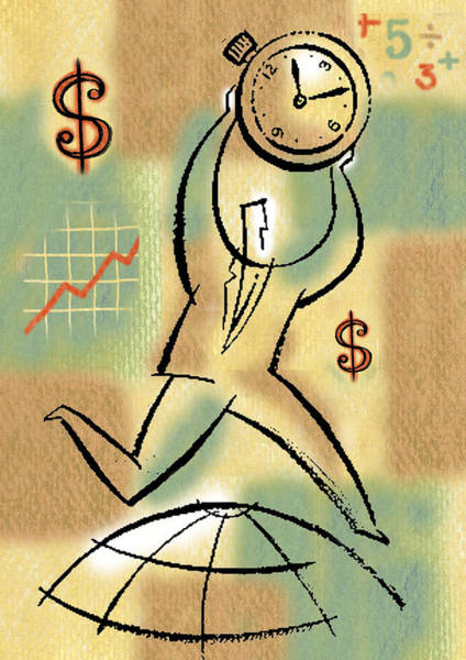 Wall Art - Painting - Your Income by Leon Zernitsky