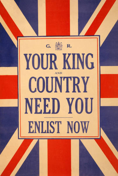 Needs Painting - Your King And Country Need You by English School