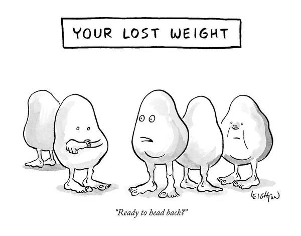 Fitness Drawing - Your Lost Weight by Robert Leighton