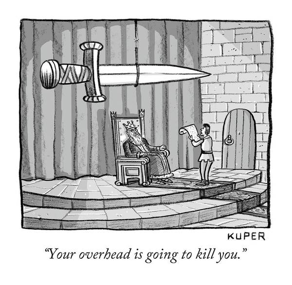 Drawing - Your Overhead Is Going To Kill You by Peter Kuper
