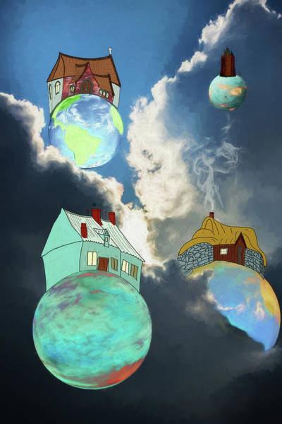 Little Planet Digital Art - Your Own Little World by John Haldane
