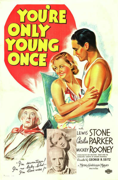Wall Art - Mixed Media - You're Only Young Once 1937 by Mountain Dreams