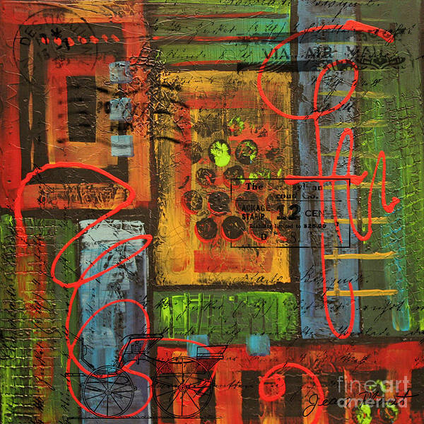 Acrylic Mixed Media - Yours Truly 1 by Jean Plout