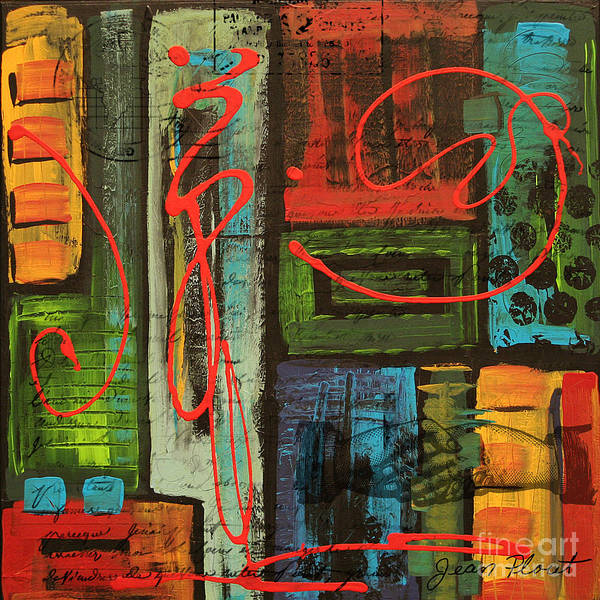 Jeans Mixed Media - Yours Truly 2 by Jean Plout