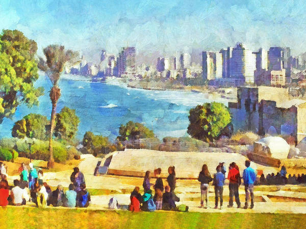 Youth Groups In Tel Aviv Art Print