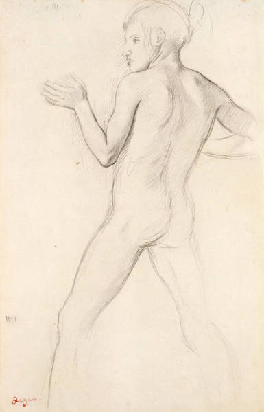 Drawing - Youth In An Attitude Of Defense by Edgar Degas