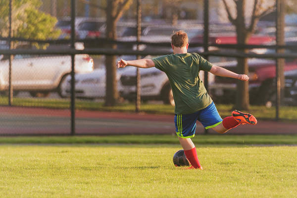 Photograph - Youth Soccer Practice by Peter Lakomy