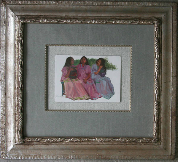 Painting - Youthful  Beauties Oil On Porcelain by Betty Jean Billups