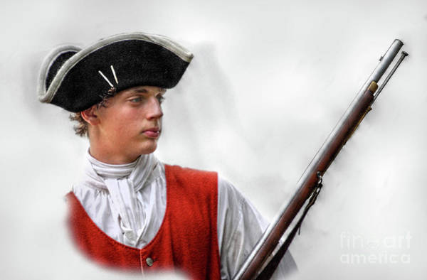 Highlanders Digital Art - Youthful Soldier With Musket by Randy Steele
