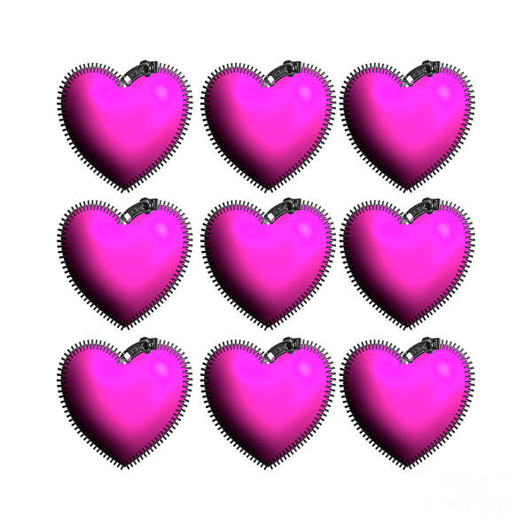 Digital Art - You've Got My Heart All Zipped Up by Barefoot Bodeez Art