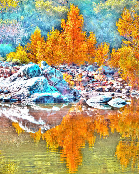 Photograph - Yuba River Fall Reflection by William Havle