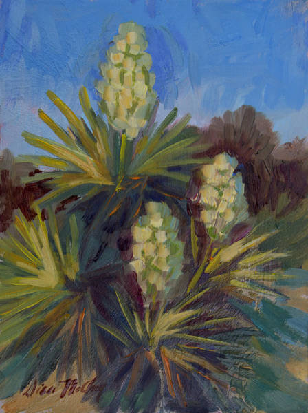 Joshua Tree National Park Wall Art - Painting - Yucca At Joshua Tree by Diane McClary